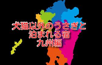 犬猫以外のうさぎと泊まれる宿 6選 九州編
